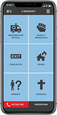 Notfall-App e-mergency® - Managing Safety